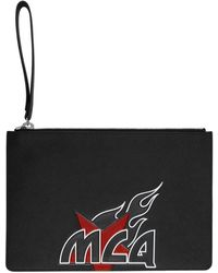 McQ ブラック ロゴ タブレット ポーチ