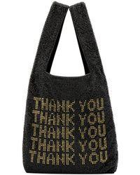 Alexander Wang Rhinestone Shopper Bag - Black