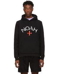 Noah Black Logo Hoodie