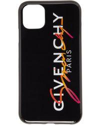 Givenchy ブラック マルチカラー ロゴ Iphone 11 ケース