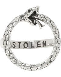 Stolen Girlfriends Club Silver Infinity Snake Ring - Metallic