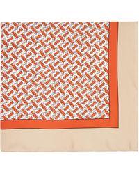 Burberry - ベージュ シルク モノグラム スカーフ - Lyst