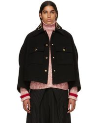 Chloé - Black Loose Fitted Jacket - Lyst