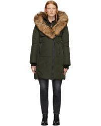 Mackage Green Down And Fur Classic Kay Parka