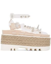 Simone Rocha Transparent Pvc Pearl Platform Sandals - Multicolor