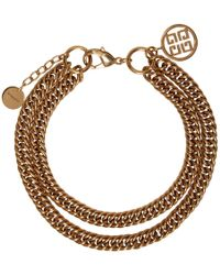 Givenchy - Gold Doubled Chain 4g Choker - Lyst