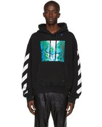 Off-White c/o Virgil Abloh Pull a capuche noir et multicolore Waterfall