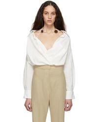 cb26e86c704 Lyst - Jacquemus Ecru  la Chemise Santon  Shirt in White