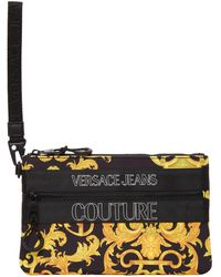 Versace Jeans Couture Black Outline Logo Barocco Pouch