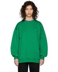 Acne Studios Green Oversized Patch Sweatshirt