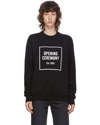 Opening Ceremony ブラック Box ロゴ スウェットシャツ