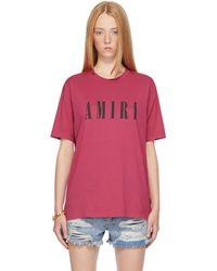Amiri Pink Core Logo T-shirt