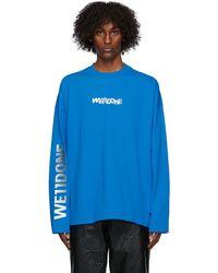 we11done T-shirt bleu Metal Logo