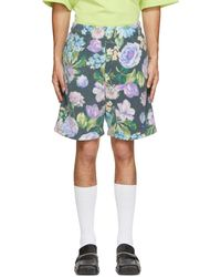 Martine Rose Black Barambo Shorts - Multicolour