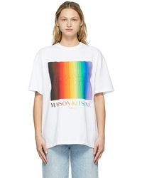 Maison Kitsuné ホワイト T シャツ