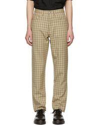 Enfants Riches Deprimes Khaki And Navy Five-pocket Pants - Natural