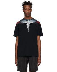 Marcelo Burlon - T-shirt noir et rouge Wings - Lyst