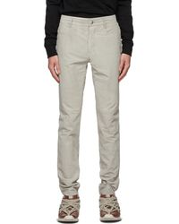 Rick Owens Gray Suede Tyrone Pants