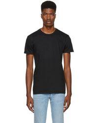 Naked & Famous - Black Ringspun Cotton T-shirt - Lyst