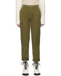Rag & Bone Pantalon kaki Buckley Chino Cargo - Vert