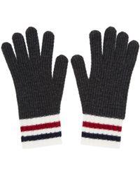 Moncler Gamme Bleu | Grey Wool Gloves | Lyst