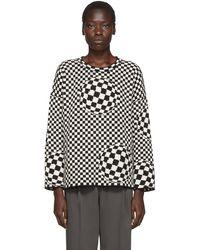 Off-White c/o Virgil Abloh - ブラック & オフホワイト チェックセーター - Lyst