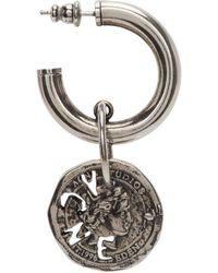 Acne Studios Silver Antique Coin Single Earring - Metallic