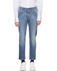 Dolce & Gabbana - Blue Mid-wash Jeans - Lyst