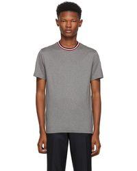 Moncler - Grey Maglia Contrast Collar T-shirt - Lyst