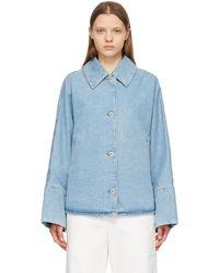 Loewe ブルー オーバーサイズ デニム ジャケット