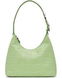 STAUD Green Croc Scotty Bag