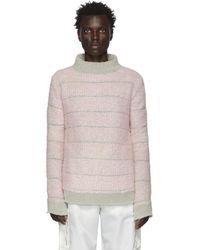 Eckhaus Latta グレー And ピンク Poodle セーター
