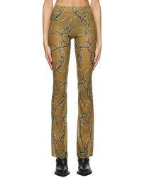 CHARLOTTE KNOWLES Pantalon brun clair Halcyon - Multicolore