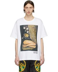 Versace Jeans - Rosa Burgess Edition ホワイト プリント T シャツ - Lyst