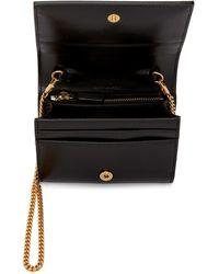 Saint Laurent Black Croc Chain Card Case Bag