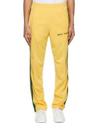 Palm Angels Yellow & Green Striped Classic Track Trousers