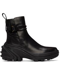 1017 ALYX 9SM ブラック Buckle チェルシー ブーツ