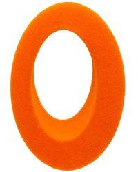 Ribeyron - Orange Single Oval Felt Earring - Lyst