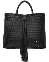 Balmain - Black Quilted Domaine Shopping Tote - Lyst