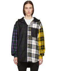 Alexander Wang Patchwork Shirt Jacket - Black