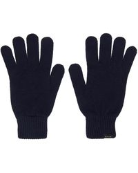 Paul Smith Cashmere Gloves - Blue