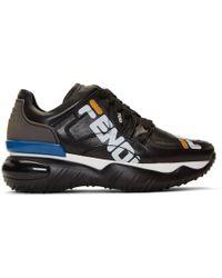 Fendi - Black Mania Chunky Sneakers - Lyst