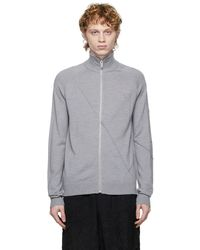 A_COLD_WALL* * Essential Zip-through Sweater - Gray