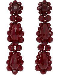 Simone Rocha Red Short Drop Earrings