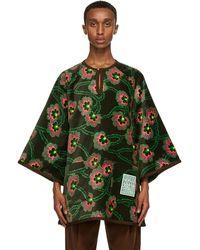 Gucci - Ken Scott Edition グリーン ベルベット フローラル シャツ - Lyst