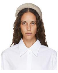 MM6 by Maison Martin Margiela Gray Padded Headband - Natural