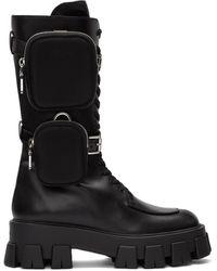 Prada ブラック ポケット ミリタリー ブーツ