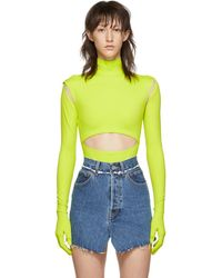 Vetements Yellow Cut-up Bodysuit