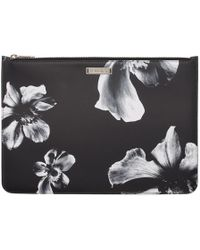 Neil Barrett - Black And White Large Flower Zippered Pouch - Lyst