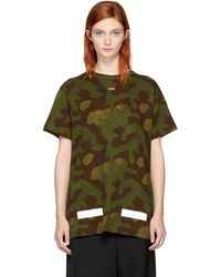 Off-White c/o Virgil Abloh - Green Camo Logo T-shirt - Lyst